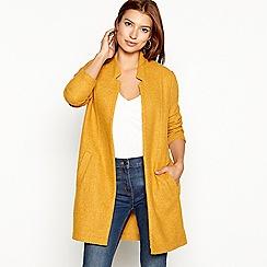 The Collection - Dark yellow textured lightweight coatigan
