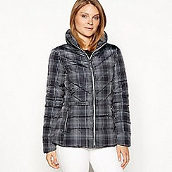 The Collection - Black check padded jacket