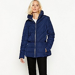 The Collection - Navy padded hooded jacket