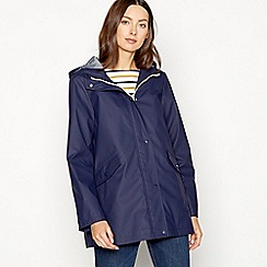 The Collection - Navy water resistant rain jacket