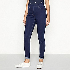 The Collection - Dark blue skinny fit jeggings