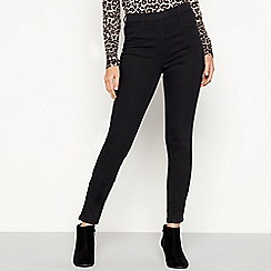 The Collection - Black cotton rich skinny fit jeggings