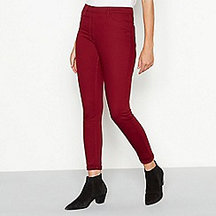 The Collection - Dark red skinny fit jeggings