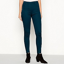 The Collection - Dark turquoise skinny fit jeggings