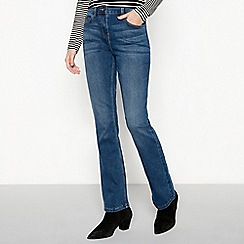 The Collection - Blue denim mid rise bootcut jeans