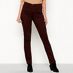 The Collection - Chocolate mid rise straight jeans