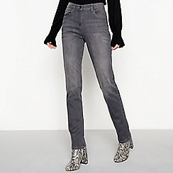 The Collection - Grey mid rise straight jeans