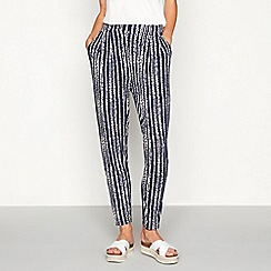 The Collection - Navy abstract stripe loose fit jogging bottoms