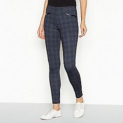 The Collection - Dark grey check ponte legging