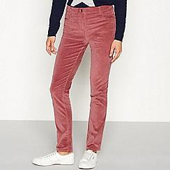 The Collection - Rose velvet straight leg trousers
