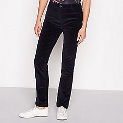The Collection - Navy stretch straight cord trousers