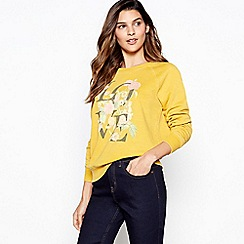 Principles - Yellow slogan print sweatshirt