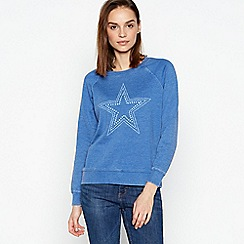 Principles - Blue Star Print Sweatshirt