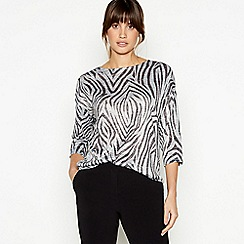 The Collection - Grey Zebra Print Top