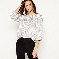 The Collection - White Zebra Print Top