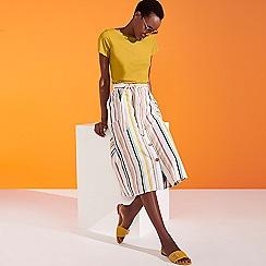 Principles - Yellow Plain Essential Cotton T-Shirt