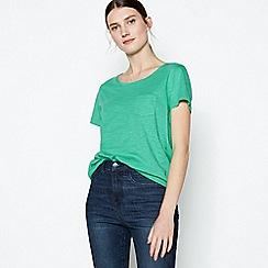 Principles - Green Plain Essential Cotton T-Shirt