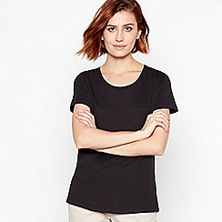 Principles - Black Plain Essential Cotton T-Shirt
