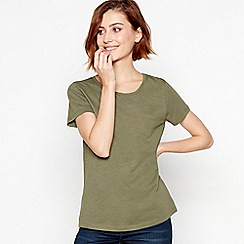 Principles - Khaki Plain Essential Cotton T-Shirt