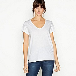 Principles - White Plain Essential Cotton T-Shirt