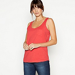Principles - Red Plain Essential Cotton Vest