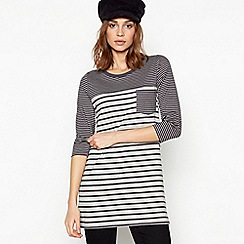 Principles - Grey Stripe Cotton Tunic Top