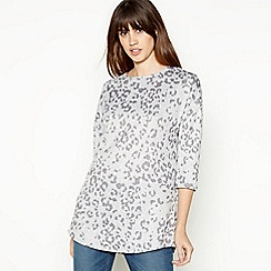 Principles - Grey Leopard Tunic Top