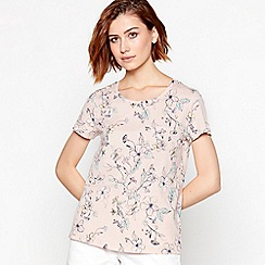 Principles - Light Pink Floral Print Cotton T-Shirt