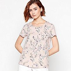 Principles - Light Pink Floral Print Cotton T-Shirt