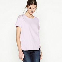 Principles - Lilac Broderie Anglaise T-Shirt