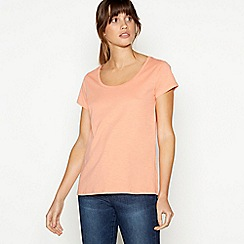 Principles - Orange Plain Essential Cotton T-Shirt
