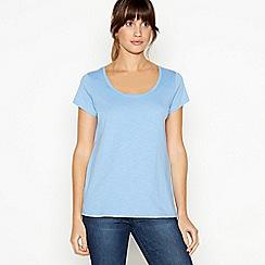 Principles - Blue Plain Essential Cotton T-Shirt