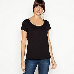 Principles - Black Plain Essential Cotton T-Shirt