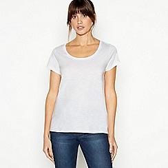 Principles - White Plain Essential Cotton T-Shirt