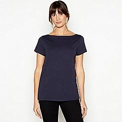 Principles - Navy Plain Essential Cotton T-Shirt