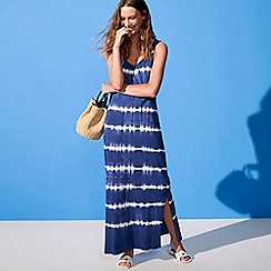 Principles - Navy Tie Dye Maxi Dress