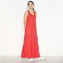 Principles - Red Tiered Maxi Dress