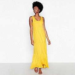 Principles - Yellow Tiered Maxi Dress