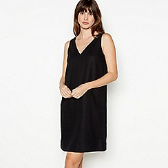 Principles - Black Linen Blend Knee Length Dress