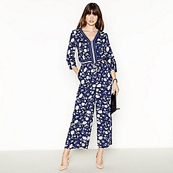 Principles - Blue Floral Jumpsuit