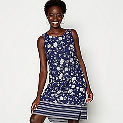 Principles - Blue Floral Knee Length Dress