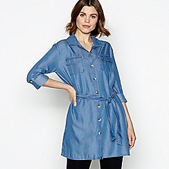 Principles - Blue Denim Utility Shirt Tunic Dress