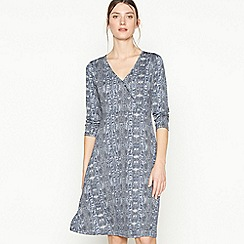 Principles - Grey Snake Print Jersey Knee Length Dress