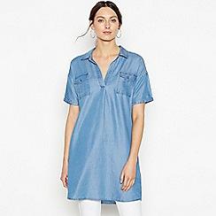 Principles - Blue Utility Denim Mini Tunic Dress