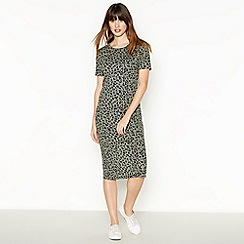 The Collection - Khaki Leopard Midi Dress