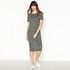The Collection - Khaki Leopard Midi Dress