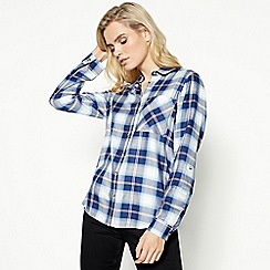 Principles - Blue Check Print Shirt