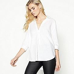 Principles - White Linen Rich Shirt