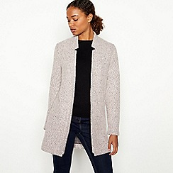 Principles - Pale Pink Boucle Knit 'Anna' Coatigan