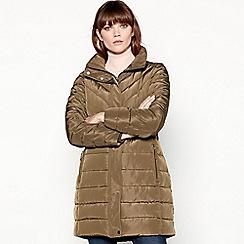 Principles - Khaki green longline padded coat